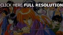 kenshin le vagabond katana personnages principaux