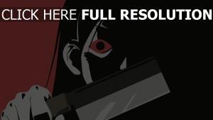visage ombre couteau