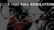 silhouette parapluie peinture