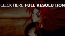 roux regard cheveux longs