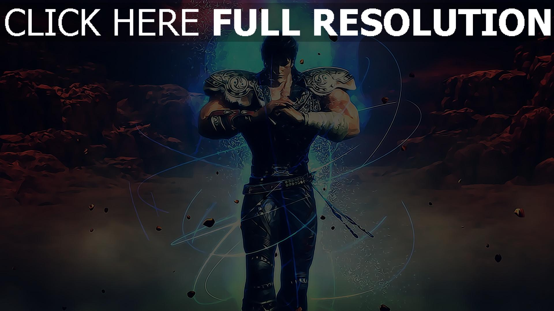 fond d'écran 1920x1080 ken — fist of the blue sky guerrier énergie