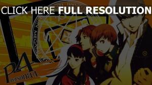 persona 4 personnages principaux inscription