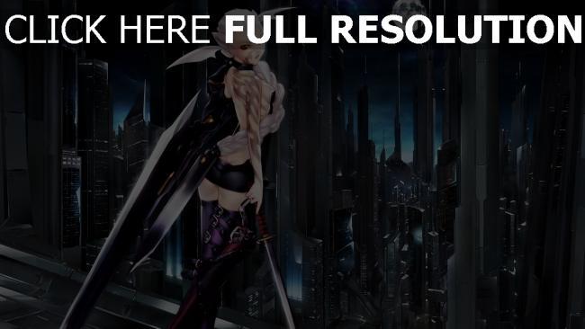 fond d'écran hd blond guerrier katana épée à deux mains