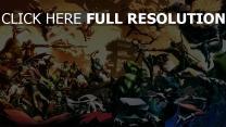 avengers personnages principaux bataille film d'animation
