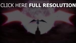silhouette aile énergie étoile de david