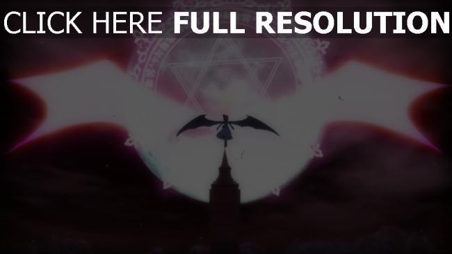 fond d'écran hd silhouette aile énergie étoile de david