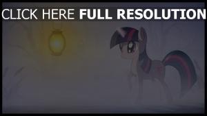 licorne lanterne brouillard
