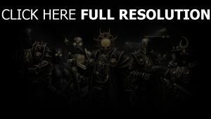 guerrier équipe foncé armure