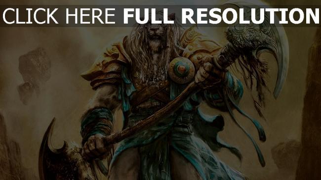 fond d'écran hd armure tigre guerrier lame