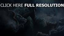 dragon bouche grotte