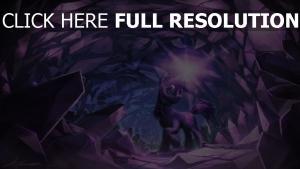 licorne pourpre grotte éclat