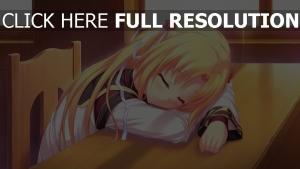 asuna dormir cheveux longs