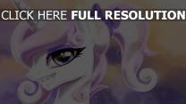 licorne sourire visage