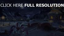 licorne noël hiver nuit lumière