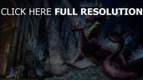 dragon licorne grotte cristal