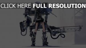 exosquelette canon pilote