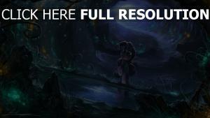 cheval luciole lumière