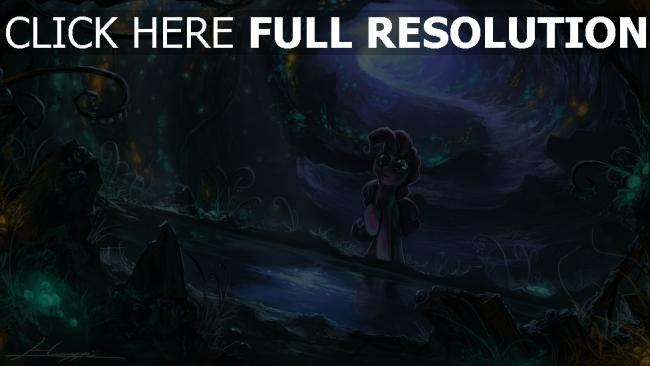 fond d'écran hd cheval luciole lumière