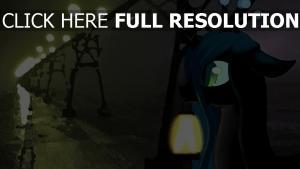 licorne lanterne flou nuit