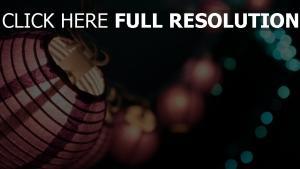 lanterne chinoise arrière-plan flou