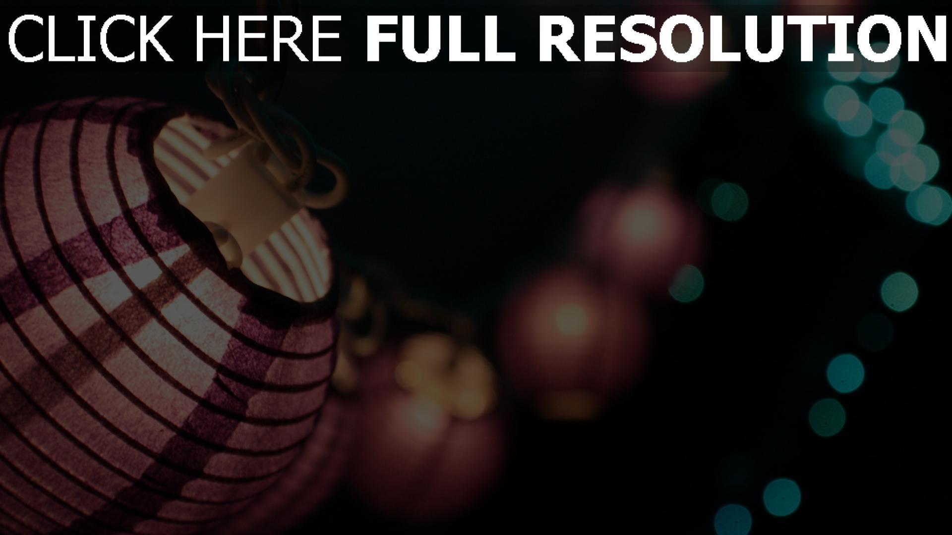 fond d'écran 1920x1080 lanterne chinoise arrière-plan flou