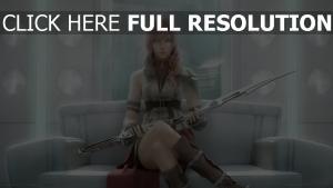 serah farron final fantasy épée vue de face