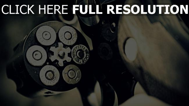 fond d'écran hd revolver munitions