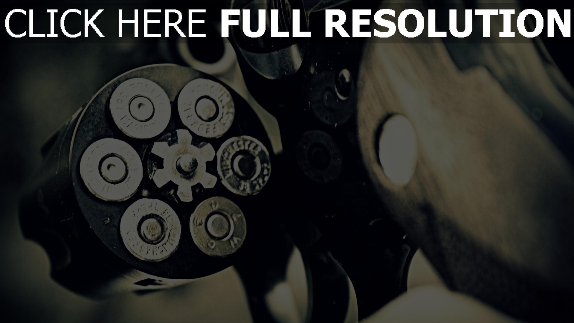 fond d'écran 1920x1080 revolver munitions
