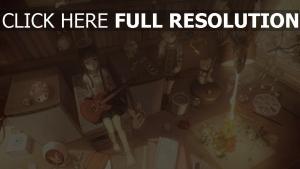 guitare jouet lanterne