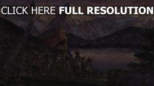 montagne roux lac bébé