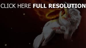 princesse mononoké loup feu