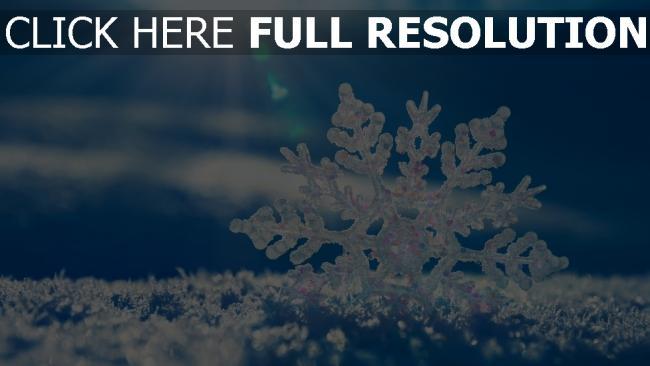 fond d'écran hd flocon de neige hiver