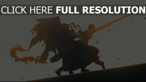 combat épée aile silhouette