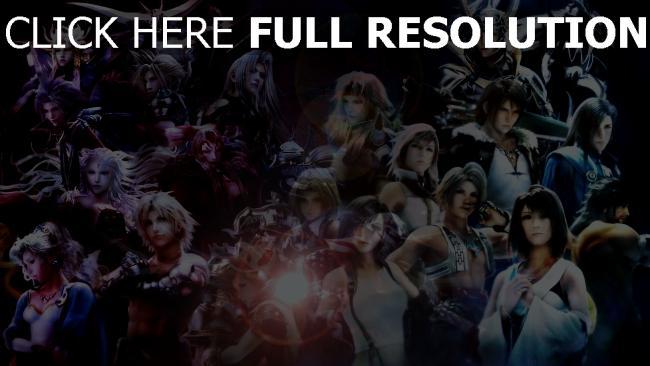 fond d'écran hd final fantasy personnages principaux