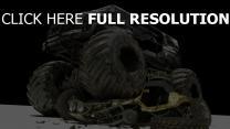 véhicule tout-terrain grand ruines