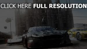 grid voiture de sport vitesse madrid