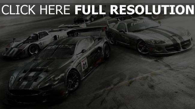 fond d'écran hd grid autosport voiture sportive de prestige vue d'en haut,
