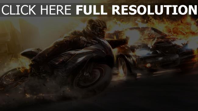 fond d'écran hd moto tirer explosion chevrolet