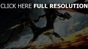 thor manteau bataille personnages principaux