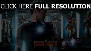 iron man illuminée robert downey Jr affiche