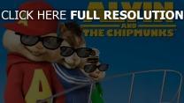 alvin et les chipmunks lunettes de soleil affiche