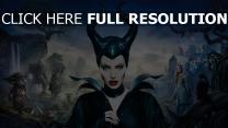 maléfique sorcière corne visage angelina jolie