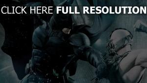 chevalier noir batman combat bane