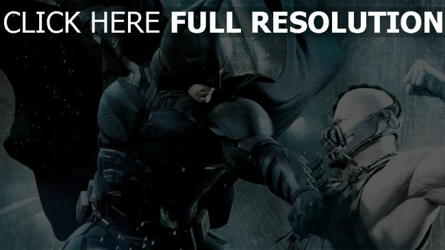 fond d'écran hd chevalier noir batman combat bane