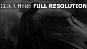 batman vs superman triste noir et blanc