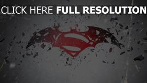 batman vs superman symbole