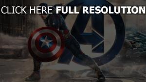 captain america peinture super-héros