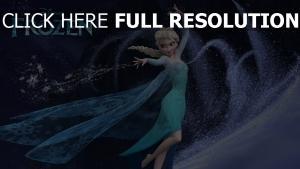 la reine des neiges elsa magie tempête de neige