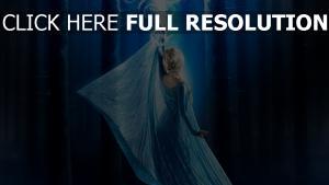 la reine des neiges forêt elsa bras magie