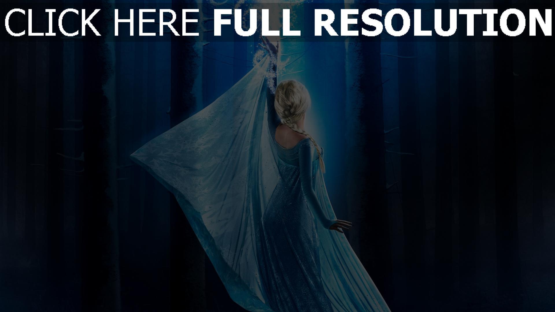 Télécharger 1920x1080 Full HD Fond d'écran la reine des neiges forêt elsa bras magie, Images et ...